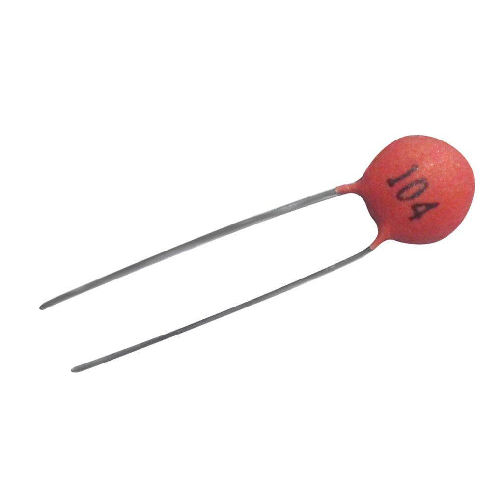 100pcs 100nF / 0.1uF - Condensador Cerámico (104) - 50V Adecuado Para Juguetes Generic