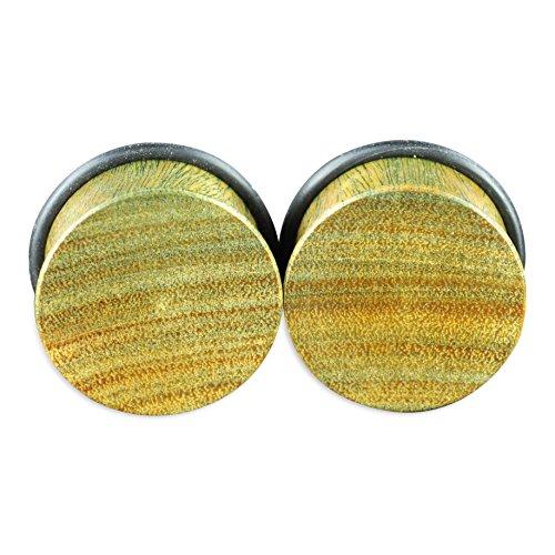 Wood Single Flare (Verawood Single Flare Natural Organic Wood Ear Gauges Plugs)