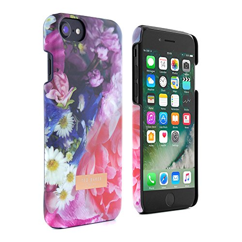 Official TED BAKER® AW16 Soft Feel Hard Shell Back Case / Cover for Apple iPhone 7, Protective Snap on Flower Print Case for iPhone 7 for Women - FOCUS BOUQUET