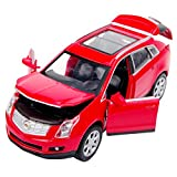 NuoYa001 NEW 1:32 Cadillac SRX alloy car model Collection 4-door with light&sound Red color