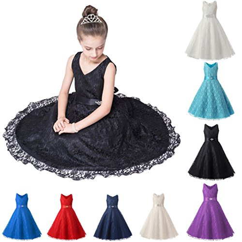 34b437fbd DEESEE(TM) For 5-10 Years Old To Be Love Baby Girls Lace splice ...