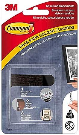Command 17202BLK Pack de 4 tiras para cuadros pequeñas, color negro, Set de 4 Piezas: Amazon.es: Bricolaje y herramientas