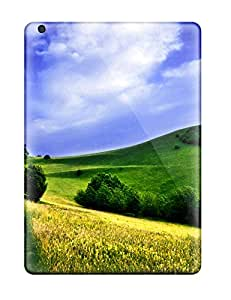 New Arrival Hard Case For Ipad Air Green Meadows