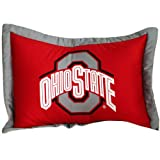 Collegiate Buckeyes Full Sheet Set - Red NCAA Ohio State Bedding Sheets Full Bed