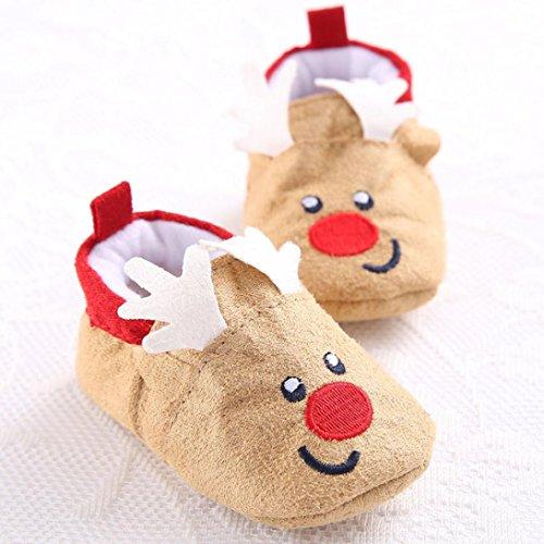 Hunpta Babyschuhe Mädchen Jungen Lauflernschuhe Kinderschuhe Weihnachten Schneestiefel Baby Kleinkind Säugling weiche Sohle Prewalker Krippe Schuhe (12)