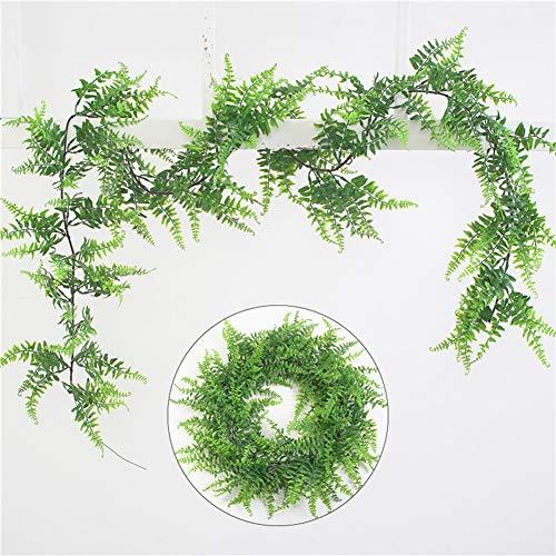 lightclub 1Pc Artificial Persian Grass Vine Plant Wedding Party Home Wall Hanging Decor for Living Room, Garden, Balcony, Restaurant, Cafe House