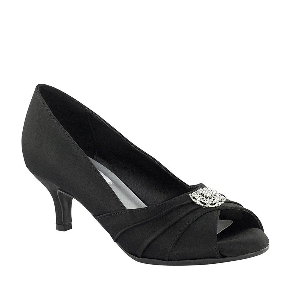 Black Size Dyeables 40114 Kristin Womens Dress Pump Shoe 6.5WW