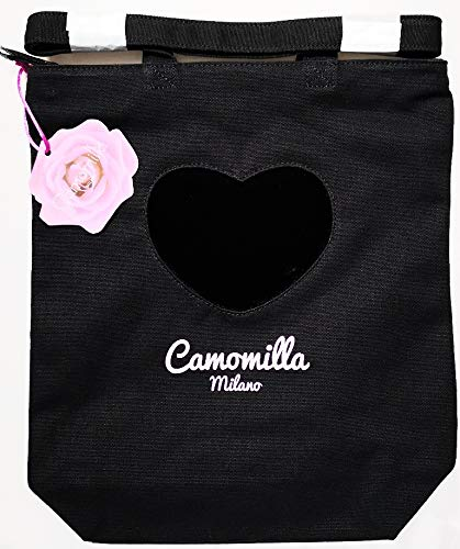 Camomilla Borsa A Spalla Shopper Milano Nera: Amazon.it