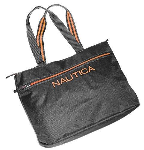 Nautica Unisex Maritime 11 17 Tote (Gray with Orange) by Nautica