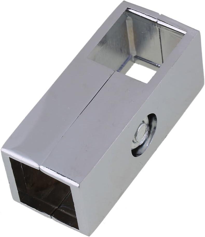 Yibuy - Abrazadera de 2 Vías para Tubo Cuadrado DE 25 mm: Amazon.es: Hogar