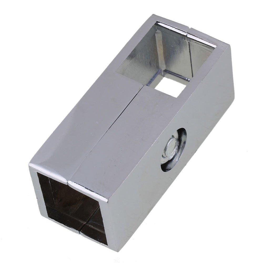 Yibuy - Abrazadera de 2 Ví as para Tubo Cuadrado DE 25 mm etfshop