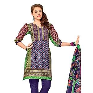 Shilp-Kala Blended Cotton Printed Multi Colored Salwar suits SKRJINSK109