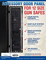 Attach this attractive holster system to the inside of the door panel to expand storage capacity and maximize shelf space in your Liberty Centurion 12. Liberty's gun safe door organizer works with most existing fabric-covered door panels. Mou...