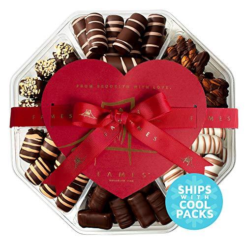 Dark Chocolate Valentine's Gift Box - Handcrafted Chocolate Truffles, Valentines Day Chocolates, 28 oz