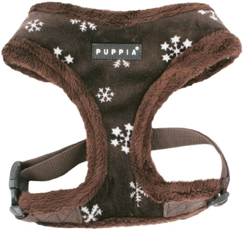Puppia Authentic Snowflake Harness A, Large, Brown, My Pet Supplies