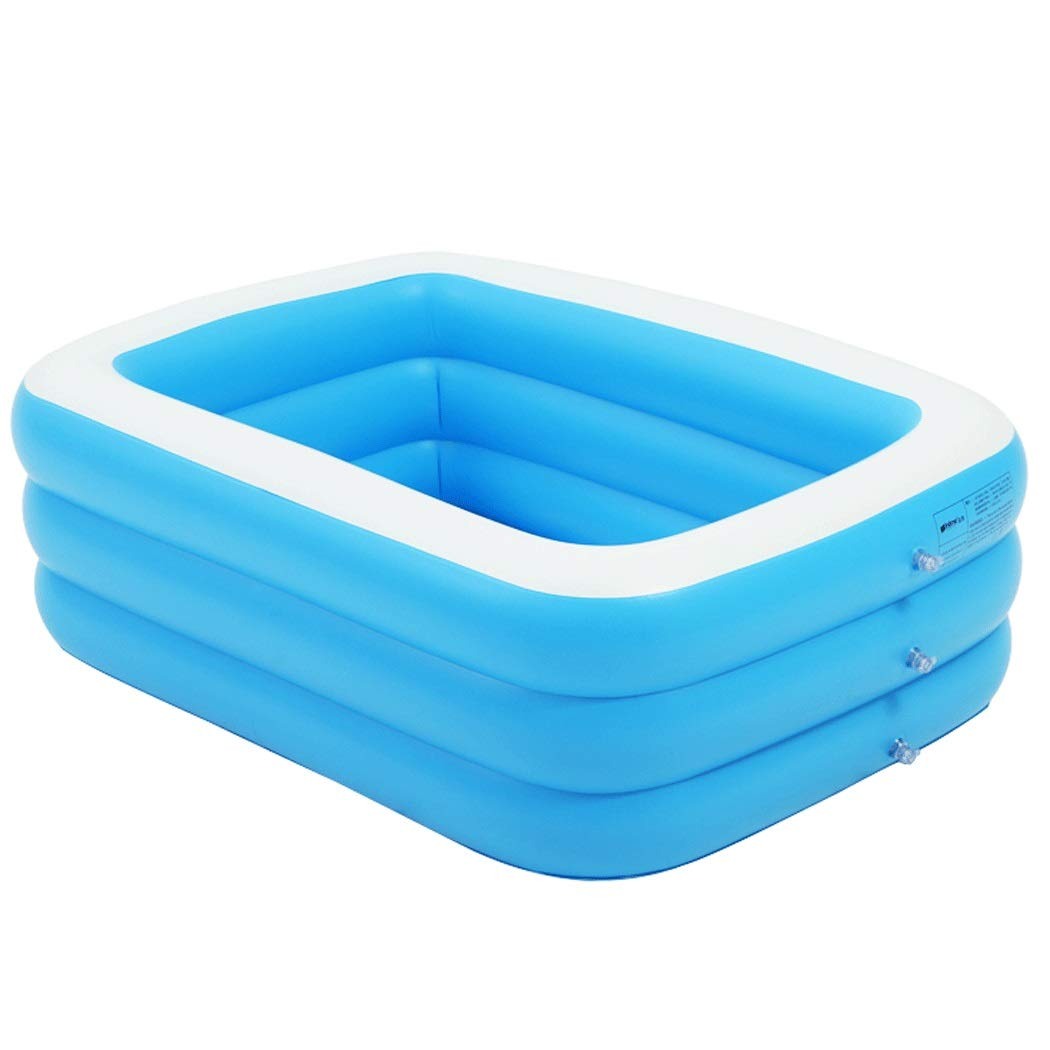 GJFeng Inflatable Adult Bathtub Collapsible Bath Barrel Thickening Large Household Can Sit Reclining Tub 130cm85cm50cm, 150cm110cm50cm (Color : Blue, Size : 150cm110cm50cm)