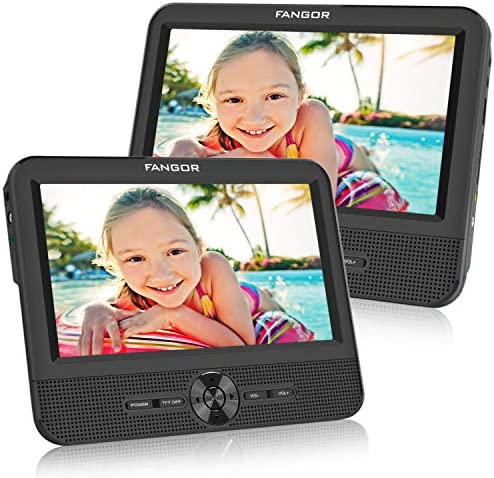 FANGOR 7.5 Dual Screen DVD Player for Ca
