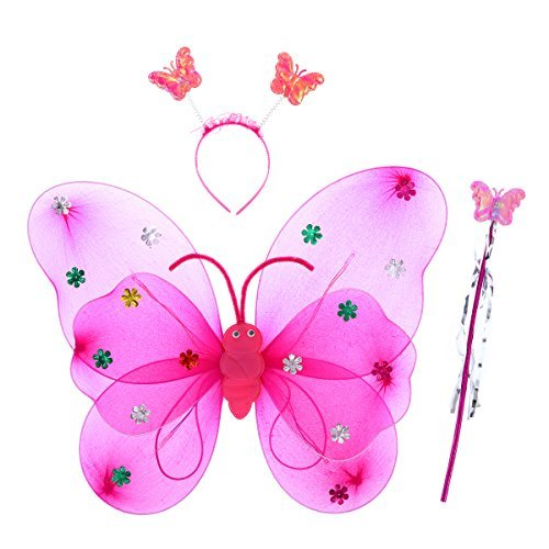 Light Up Butterfly Wings - Three Piece