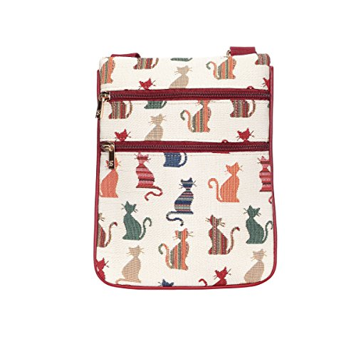 Signare Chat Document Bag Wallet Acrossbody monnaie Porte Effronte Travel Tapestry HwgxaqSH