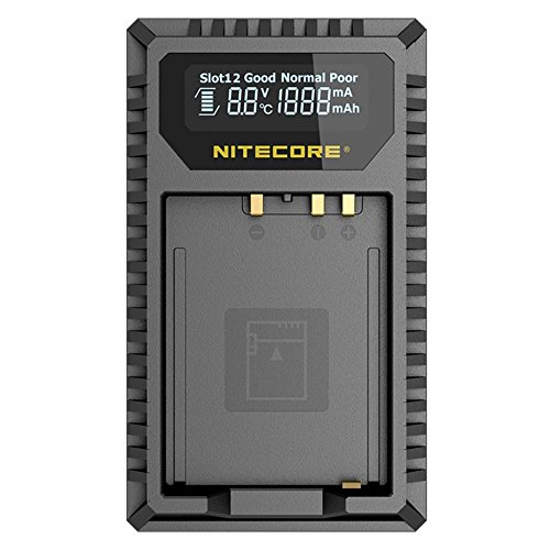 NITECORE FX1 Digital USB Camera Battery Charger Compatible with Fujifilm NP-W126 and NP-W126S Batteries