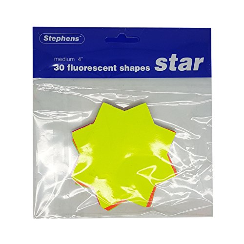 Stephens 370352 4-Inch Star Ticket - Fluorescent (Pack of 30 Sheets)