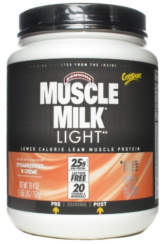 CytoSport Muscle Milk Light, Strawberry Milkshake 1.65 lb (750 g)
