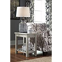 Veldar Chair Side End Table Whitewash/Casual