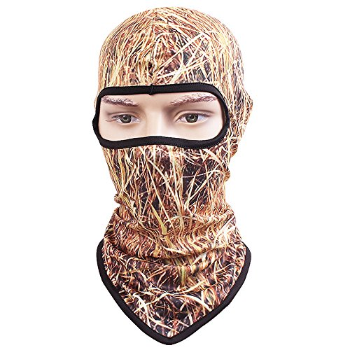 TClian 3D Camouflage Balaclava Full Face mask Ninja hood Millitary Hunting Camo Sun Protection (Thatch)