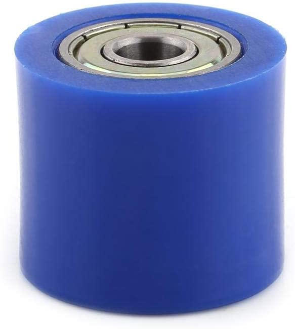 8mm//10mm Drive Chain Pulley Roller Slider Tensioner Wheel Guide Chain Roller Tensioner For Street Bike Motorcycle Motocross Pit Dirt ATV Car Accessories Blue10MM