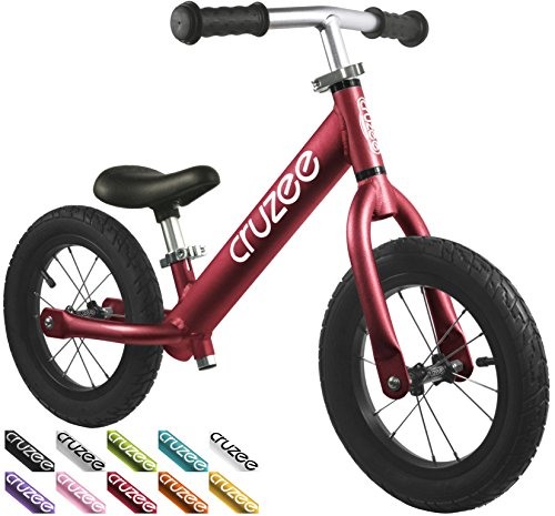 Cruzee Ultralite Air Balance Bike (4. 8 lbs) for Ages 1. 5 to 5 Years - Red