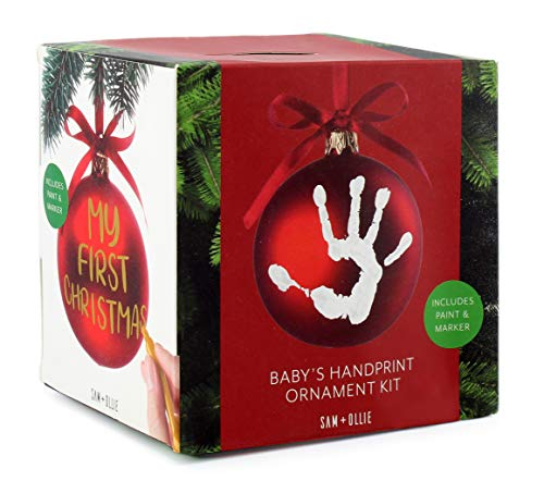 SAM + Ollie First Christmas Ornament Kit, Baby Handprint Footprint Keepsake Dog Paw Print from SAM + OLLIE FURNISHINGS