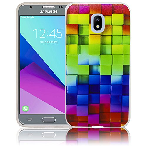 Samsung Galaxy J3 2017 Patrón de colores Funda protectora de silicona Funda protectora suave Funda protectora contra el parachoques Funda protectora para teléfono móvil Funda protectora para teléfono  Patrón de colores