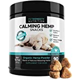 Hemp Calming Treats for Dogs - All-Natural Soothing Snacks with Hemp + Valerian Root, Stress & Dog Anxiety Relief, Calming Aid for Dogs Helps Travel, Separation, Car Rides, Thunderstorms, 90ct