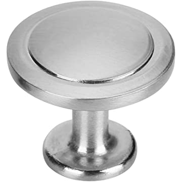10 Pcs 1-1/4 Diameter Metallic Cabinet Dresser Round Knobs Drawer Kitchen Hardware Knobs Brushed Satin Nickel Pull Handles by Protocol (Brushed Satin Nickel)