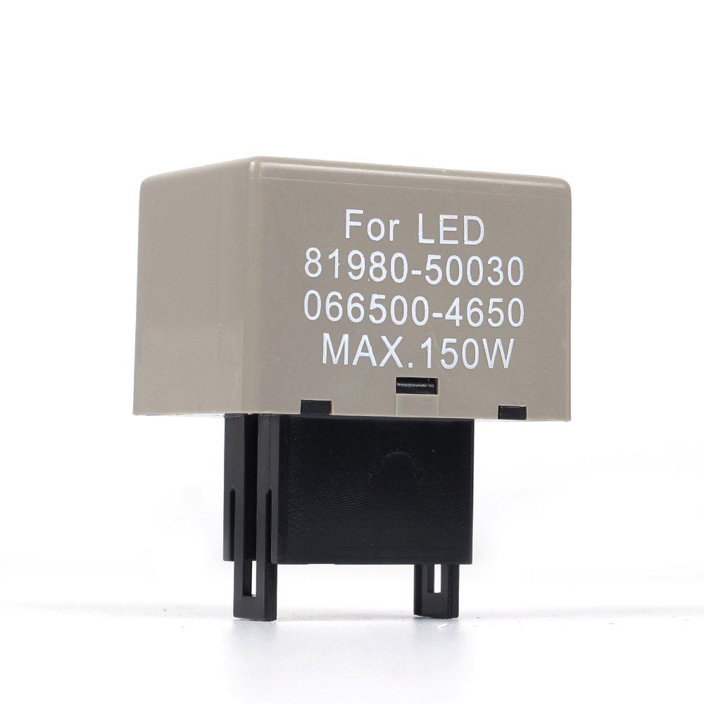 Amazon.com: JDM ASTAR 8-Pin 81980-50030 066500-4650 Electronic LED Flasher  Assy Relay Fix For Lexus Scion or Toyota LED Turn Signal Light Bulbs:  Automotive