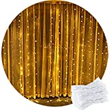 Curtain Light,CORST 2M x 2M Warm White Curtain Fairy Lights Waterfall Window Light Icicle Fairy Lights,204 LED,8Modes, Safety Voltage For Party Indoor Outdoor Room Wall Xmas Wedding De