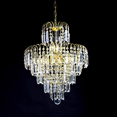 Lightinthebox European-Style Luxury 6 Lights Chandelier In Crown Shape, Crystal Home Ceiling Light Fixture, Pendant Light Chandeliers Lighting for Dining Room, Bedroom, Living Room by LightInTheBox (Image #1)