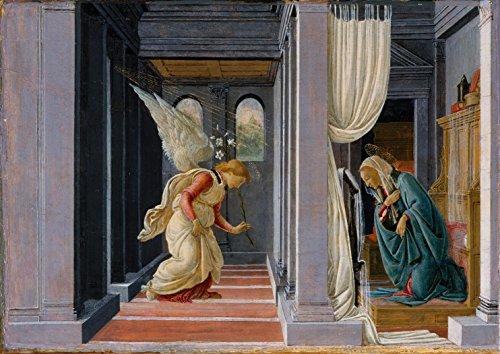 Sandro Botticelli: The Annunciation. Fine Art Print/Poster. Size A4 (29.7cm x - Annunciation Botticelli