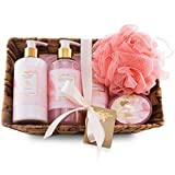 Camille Beckman Essentials Gift Basket, Camille, Glycerine Hand Therapy 6 oz, Silky Body Cream 13 oz, Hand and Shower Cleansing Gel 13 oz, Glycerine Soap 3.5 oz