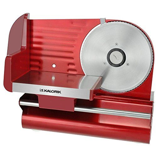 KALORIK 7-1/2 in. Meat Slicer in Red Metallic - 2PC