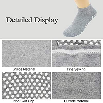 Amazon.com : Non Skid Slip Sticky Grippers Socks Pilates Ballet Barre Yoga Socks for Women : Clothing