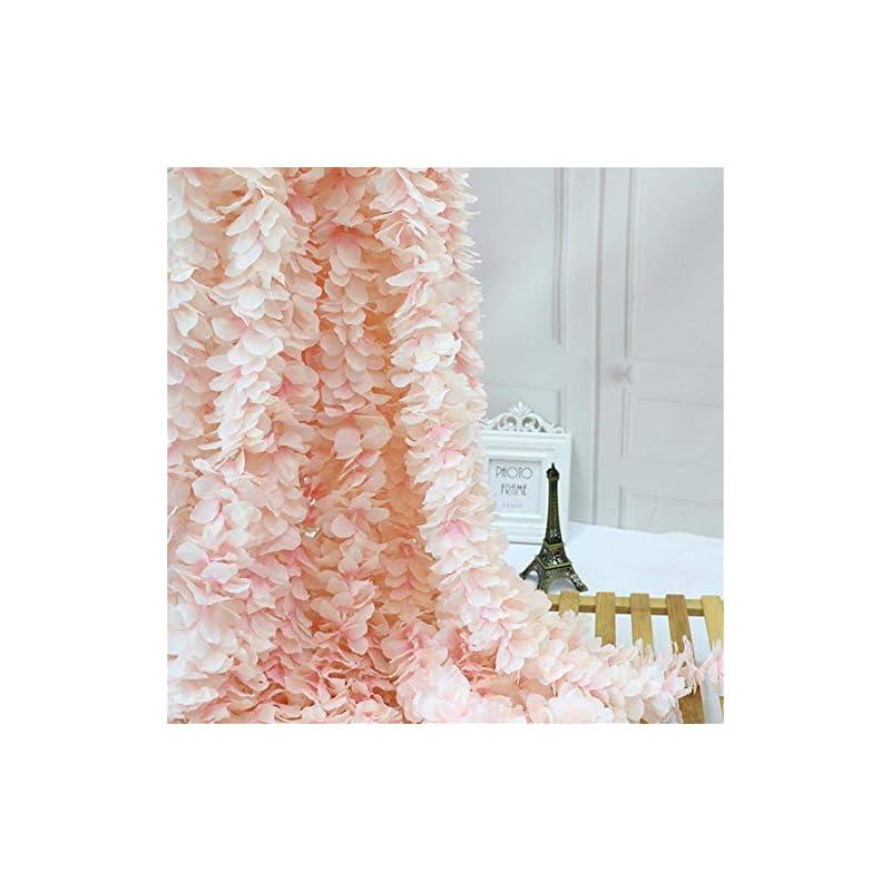 silk flower arrangements homcomoda 4pc artificial silk hydrangea flower hanging wisteria cattleya vine garland each 200 flower spray arrangements for wedding wreath home garden party decor (light pink)