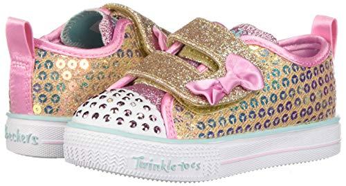 Skechers Kids Girls' Shuffle Lite-Mini Mermaid Sneaker, Gold, 10.5 Medium US Little Kid by Skechers (Image #5)
