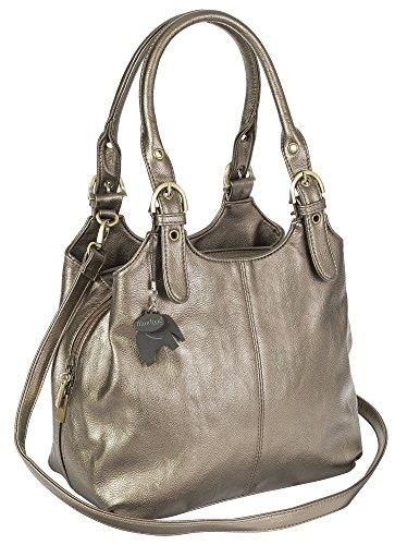 Borsa Plain a Big donna Metallisch Shop mano Handbag S108 qw40n0EO7
