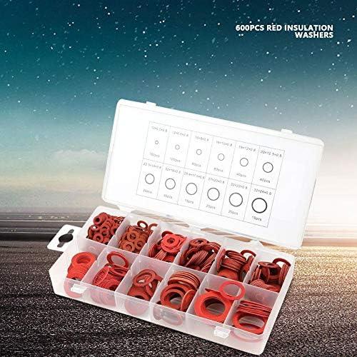 600er Unterlegscheiben Sortiment Roter Stahl Papierfaser Flache Unterlegscheiben Isolierscheibe Sortiert Set Mit Box 12 Verschiedene Größen Red Baumarkt