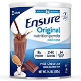 Ensure Original Nutrition Powder with 8 Grams of Protein, Meal Replacement, Chocolate, 6 Count of 14.1 Ounces