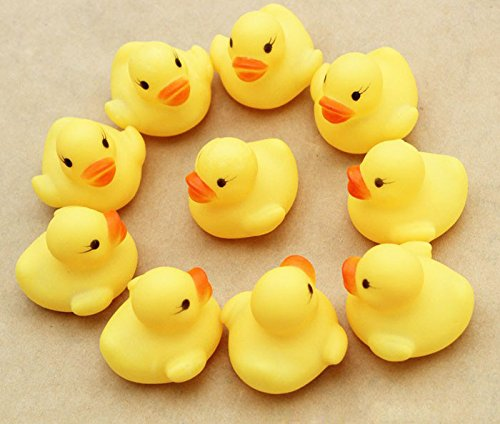 JIDSFIE New Toddler Educational Toys One Dozen (12) Rubber Duck Ducky Duckie Baby Shower Birthday Party Favors for Boys Girls Baby Kids]()