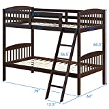 Costzon Twin Over Twin Bunk Beds, Convertible