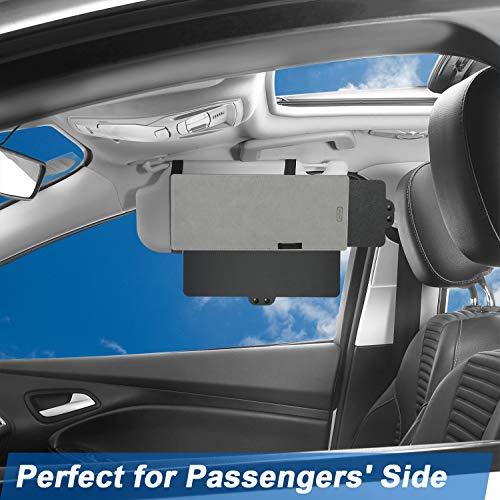 SAILEAD Gray Sun Visor Sunshade Extender for Car, Side Window Sun Visor Extender Windshield Sunshade and UV Rays Blocker, 1 Pack, Gray