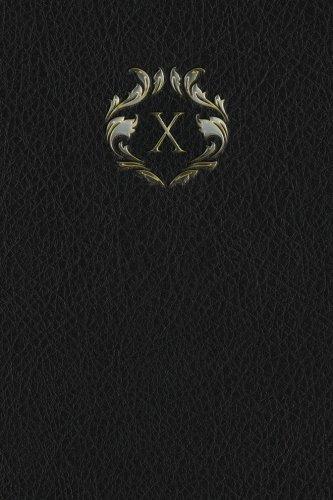 "Monogram ""X"" Blank Book (Monogram Black 150 Blank) (Volume 24) PDF"